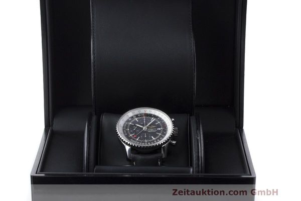 Used luxury watch Breitling Navitimer World chronograph steel automatic Kal. B24 ETA 7754 Ref. A24322  | 161844 07