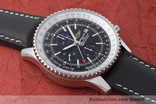 Used luxury watch Breitling Navitimer World chronograph steel automatic Kal. B24 ETA 7754 Ref. A24322  | 161844 13