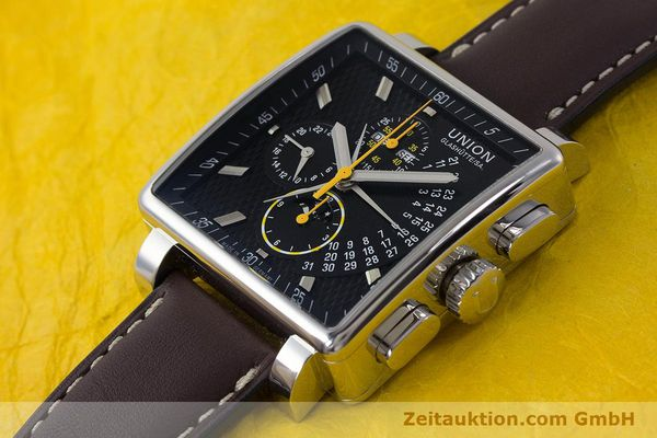Used luxury watch Union Glashütte Averin chronograph steel automatic Kal. U7751 Ref. D003.525A  | 161856 01