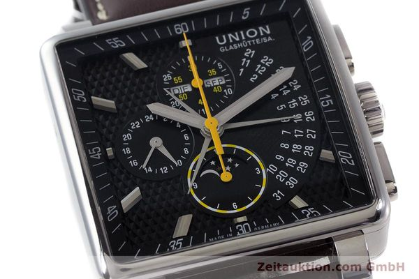 Used luxury watch Union Glashütte Averin chronograph steel automatic Kal. U7751 Ref. D003.525A  | 161856 02