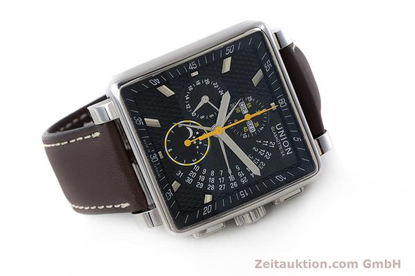 Used luxury watch Union Glashütte Averin chronograph steel automatic Kal. U7751 Ref. D003.525A  | 161856 03