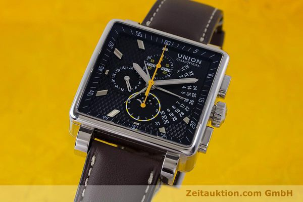 Used luxury watch Union Glashütte Averin chronograph steel automatic Kal. U7751 Ref. D003.525A  | 161856 04