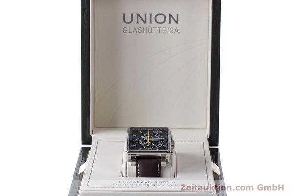 Used luxury watch Union Glashütte Averin chronograph steel automatic Kal. U7751 Ref. D003.525A  | 161856 07