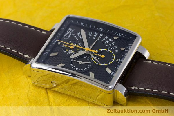 Used luxury watch Union Glashütte Averin chronograph steel automatic Kal. U7751 Ref. D003.525A  | 161856 15