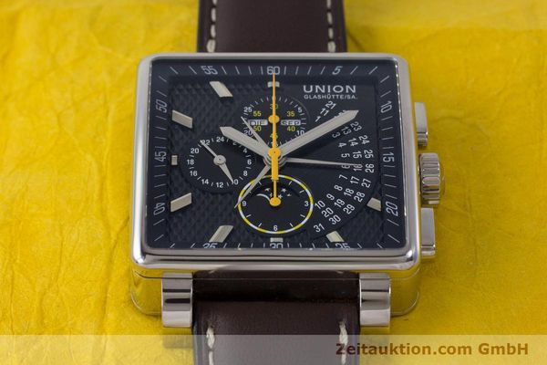 Used luxury watch Union Glashütte Averin chronograph steel automatic Kal. U7751 Ref. D003.525A  | 161856 16
