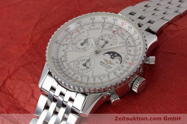 Used luxury watch Breitling Montbrillant chronograph steel automatic Kal. B19 ETA 2892-A2 Ref. A19340  | 161857 01