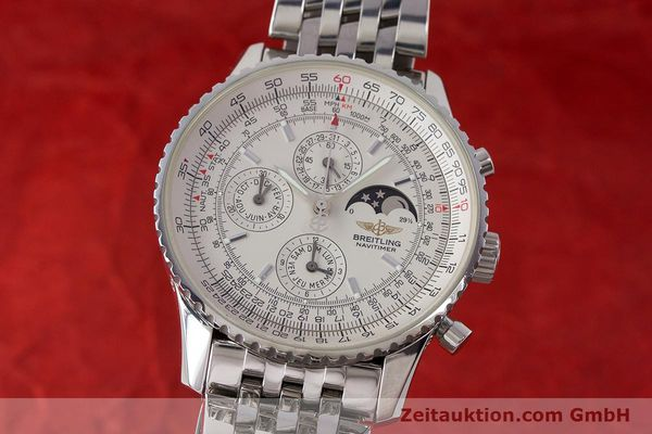 Used luxury watch Breitling Montbrillant chronograph steel automatic Kal. B19 ETA 2892-A2 Ref. A19340  | 161857 04