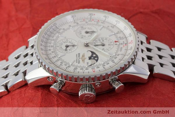 Used luxury watch Breitling Montbrillant chronograph steel automatic Kal. B19 ETA 2892-A2 Ref. A19340  | 161857 05