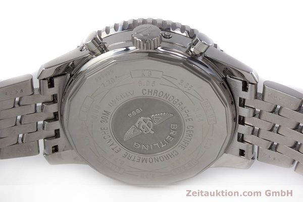 Used luxury watch Breitling Montbrillant chronograph steel automatic Kal. B19 ETA 2892-A2 Ref. A19340  | 161857 09