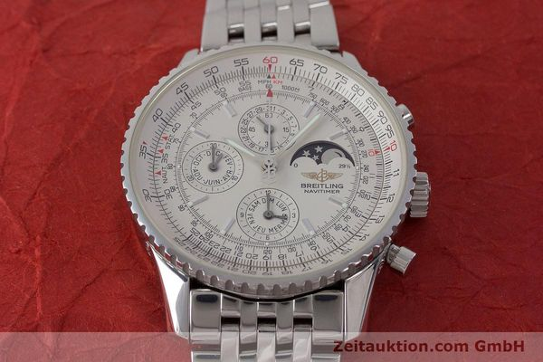 Used luxury watch Breitling Montbrillant chronograph steel automatic Kal. B19 ETA 2892-A2 Ref. A19340  | 161857 18