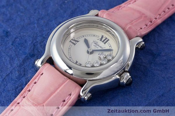 Used luxury watch Chopard Happy Sport steel quartz Kal. ETA 956102 Ref. 27/8245-23  | 161858 01