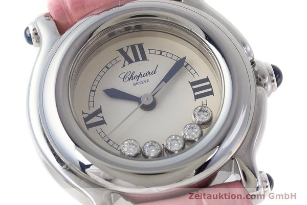 Used luxury watch Chopard Happy Sport steel quartz Kal. ETA 956102 Ref. 27/8245-23  | 161858 02