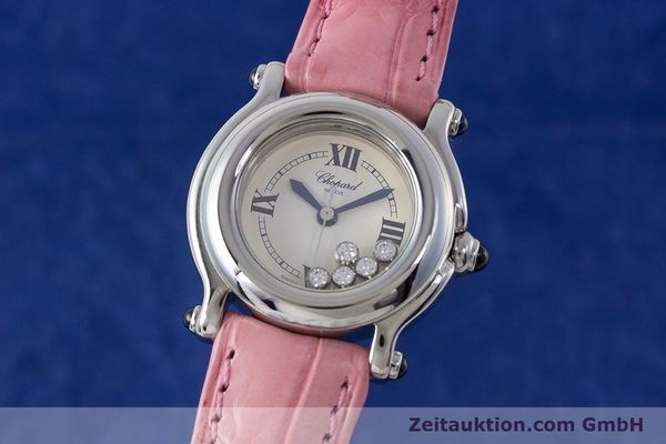 CHOPARD LADY HAPPY SPORT DIAMANTEN DAMENUHR EDELSTAHL 27/8245-23 VP: 5055,- EURO [161858]