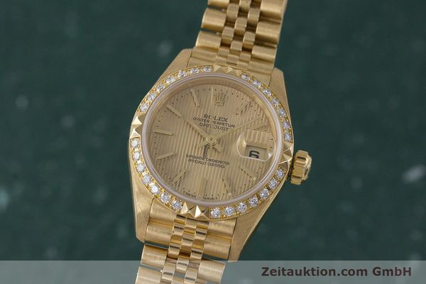 ROLEX LADY DATEJUST 18 CT GOLD AUTOMATIC KAL. 2135 LP: 22650EUR [161866]
