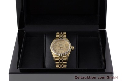 ROLEX LADY 18K GOLD DATEJUST AUTOMATIK DIAMANTEN DAMENUHR 69268 VP: 22650,- EURO [161866]