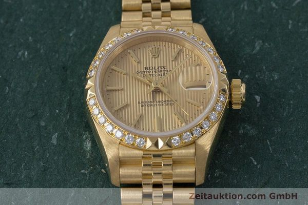 Used luxury watch Rolex Lady Datejust 18 ct gold automatic Kal. 2135 Ref. 69268  | 161866 17