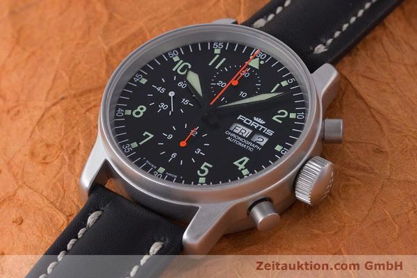 Used luxury watch Fortis Flieger Chronograph chronograph steel automatic Kal. ETA 7750 Ref. 597.10.141  | 161871 01