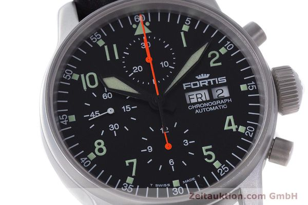 Used luxury watch Fortis Flieger Chronograph chronograph steel automatic Kal. ETA 7750 Ref. 597.10.141  | 161871 02