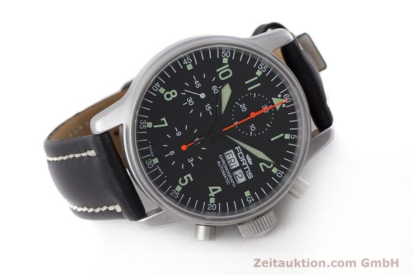 Used luxury watch Fortis Flieger Chronograph chronograph steel automatic Kal. ETA 7750 Ref. 597.10.141  | 161871 03