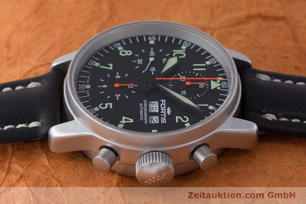 Used luxury watch Fortis Flieger Chronograph chronograph steel automatic Kal. ETA 7750 Ref. 597.10.141  | 161871 05