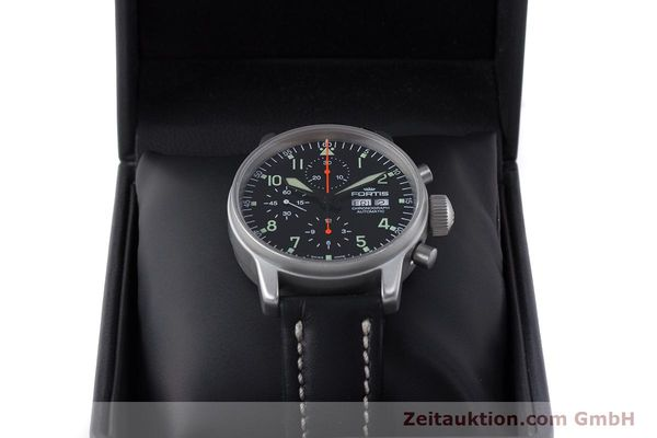 Used luxury watch Fortis Flieger Chronograph chronograph steel automatic Kal. ETA 7750 Ref. 597.10.141  | 161871 07