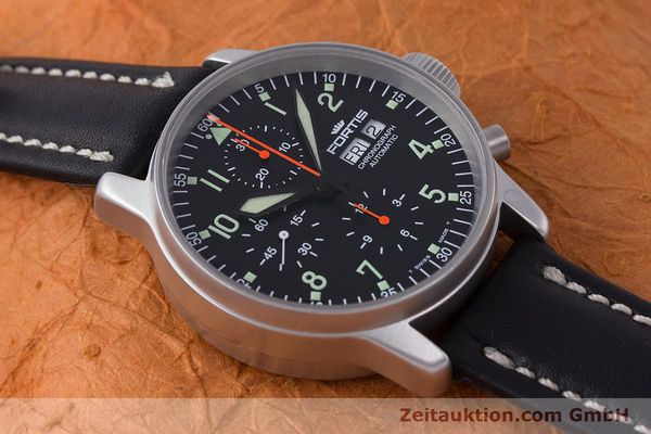 Used luxury watch Fortis Flieger Chronograph chronograph steel automatic Kal. ETA 7750 Ref. 597.10.141  | 161871 14