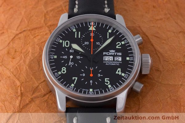 Used luxury watch Fortis Flieger Chronograph chronograph steel automatic Kal. ETA 7750 Ref. 597.10.141  | 161871 15