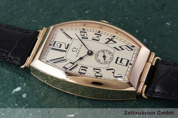 gebrauchte Luxusuhr Omega 1915 18k Rotgold Automatik Kal. 2200 Ref. 3672003 LIMITED EDITION | 161880 15