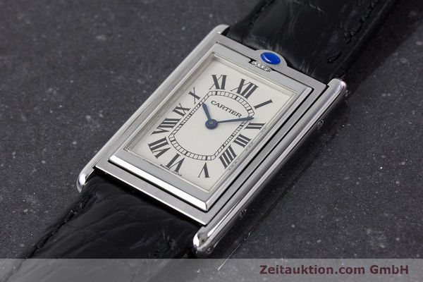 Used luxury watch Cartier Tank steel manual winding Kal. 060MC Ref. 2390  | 161898 01