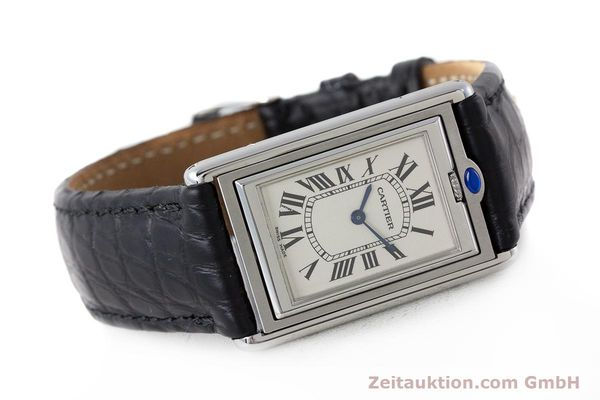 Used luxury watch Cartier Tank steel manual winding Kal. 060MC Ref. 2390  | 161898 03