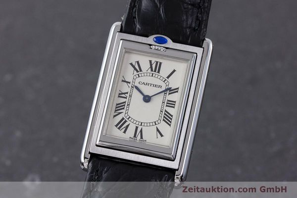 Used luxury watch Cartier Tank steel manual winding Kal. 060MC Ref. 2390  | 161898 04