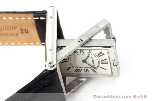 Used luxury watch Cartier Tank steel manual winding Kal. 060MC Ref. 2390  | 161898 08