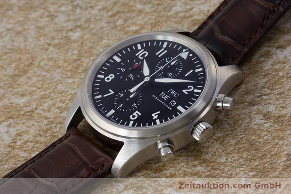 Used luxury watch IWC Fliegeruhr chronograph steel automatic Kal. 79320 Ref. 3717  | 161904 02