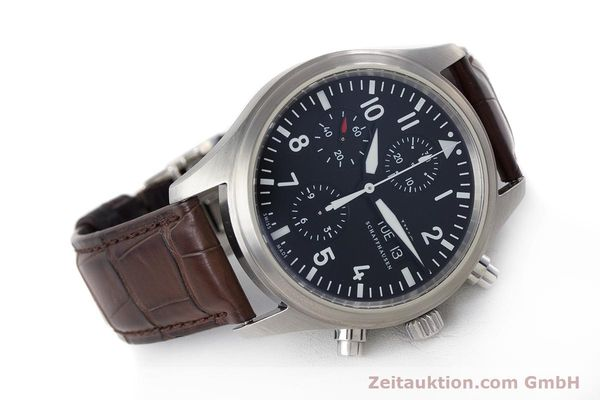 Used luxury watch IWC Fliegeruhr chronograph steel automatic Kal. 79320 Ref. 3717  | 161904 04