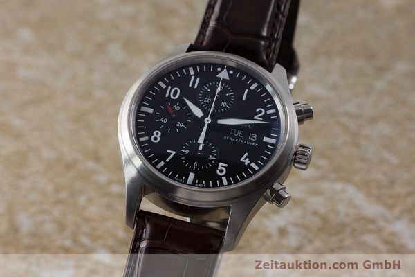 Used luxury watch IWC Fliegeruhr chronograph steel automatic Kal. 79320 Ref. 3717  | 161904 05