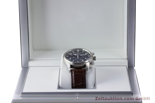 Used luxury watch IWC Fliegeruhr chronograph steel automatic Kal. 79320 Ref. 3717  | 161904 07