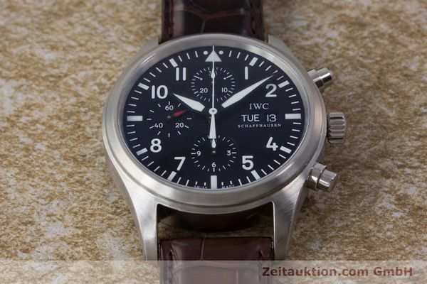 Used luxury watch IWC Fliegeruhr chronograph steel automatic Kal. 79320 Ref. 3717  | 161904 18