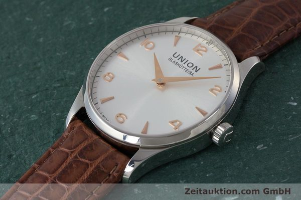 Used luxury watch Union Glashütte Noramis steel automatic Kal. U2892A2 ETA 2892A2 Ref. D005.433A  | 161914 01