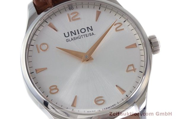 Used luxury watch Union Glashütte Noramis steel automatic Kal. U2892A2 ETA 2892A2 Ref. D005.433A  | 161914 02