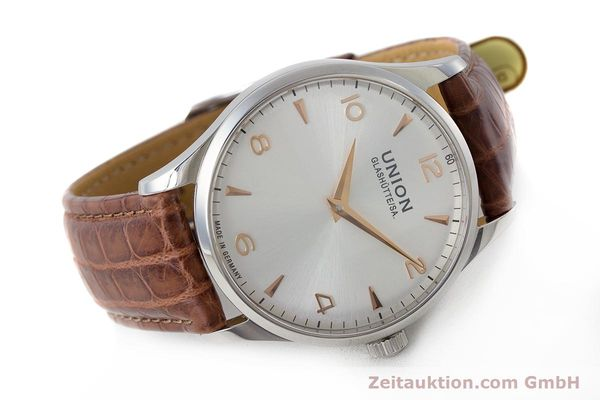 Used luxury watch Union Glashütte Noramis steel automatic Kal. U2892A2 ETA 2892A2 Ref. D005.433A  | 161914 03