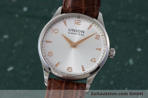 Used luxury watch Union Glashütte Noramis steel automatic Kal. U2892A2 ETA 2892A2 Ref. D005.433A  | 161914 04