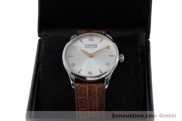 Used luxury watch Union Glashütte Noramis steel automatic Kal. U2892A2 ETA 2892A2 Ref. D005.433A  | 161914 07