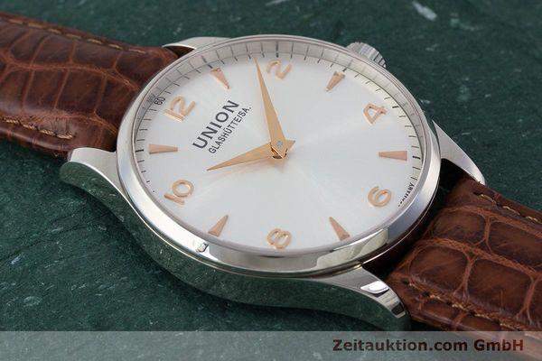 Used luxury watch Union Glashütte Noramis steel automatic Kal. U2892A2 ETA 2892A2 Ref. D005.433A  | 161914 13