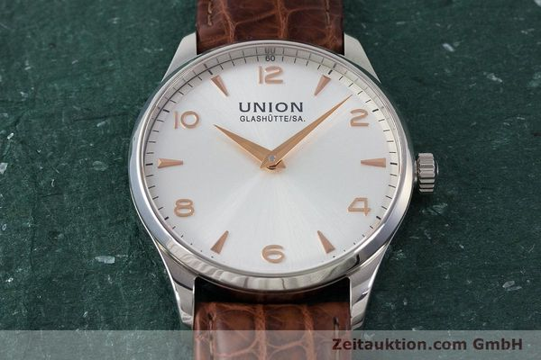 Used luxury watch Union Glashütte Noramis steel automatic Kal. U2892A2 ETA 2892A2 Ref. D005.433A  | 161914 14