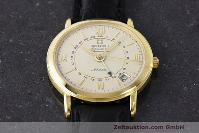ZENITH 18K GOLD AUTOMATIC 672 CHRONOMETRE GMT HERRENUHR LIMITIERT VP: 12900,- Euro [161933]