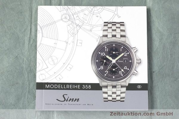 Used luxury watch Sinn 358 chronograph steel automatic  | 161935 12