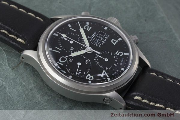 Used luxury watch Sinn 358 chronograph steel automatic  | 161935 15