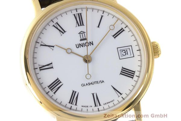 Used luxury watch Union Glashütte * gold-plated automatic Kal. ETA 2824-2 Ref. 8126-01-01-07  | 161947 02