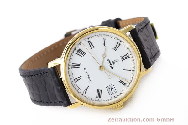 Used luxury watch Union Glashütte * gold-plated automatic Kal. ETA 2824-2 Ref. 8126-01-01-07  | 161947 03