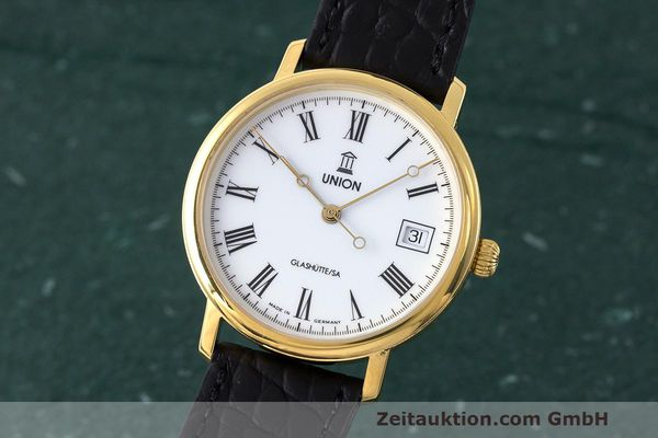 Used luxury watch Union Glashütte * gold-plated automatic Kal. ETA 2824-2 Ref. 8126-01-01-07  | 161947 04